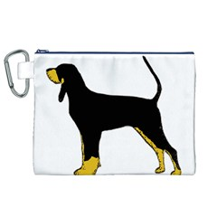 Black And Tan Coonhound Silo Color Canvas Cosmetic Bag (XL)