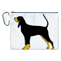 Black And Tan Coonhound Silo Color Canvas Cosmetic Bag (XXL)