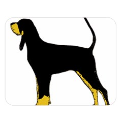 Black And Tan Coonhound Silo Color Double Sided Flano Blanket (Large)