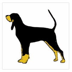 Black And Tan Coonhound Silo Color Large Satin Scarf (Square)