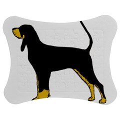 Black And Tan Coonhound Silo Color Jigsaw Puzzle Photo Stand (Bow)