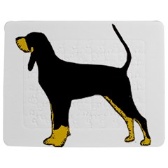 Black And Tan Coonhound Silo Color Jigsaw Puzzle Photo Stand (Rectangular)