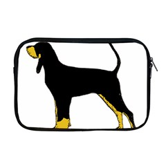 Black And Tan Coonhound Silo Color Apple MacBook Pro 17  Zipper Case