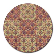 Vintage Ornate Baroque Round Mousepads