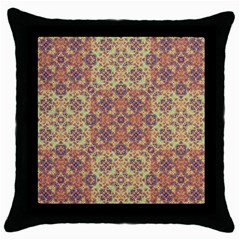 Vintage Ornate Baroque Throw Pillow Case (Black)