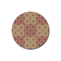 Vintage Ornate Baroque Rubber Round Coaster (4 pack)