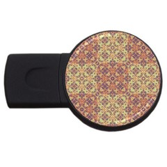 Vintage Ornate Baroque USB Flash Drive Round (4 GB)