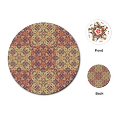 Vintage Ornate Baroque Playing Cards (Round)