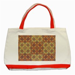 Vintage Ornate Baroque Classic Tote Bag (Red)