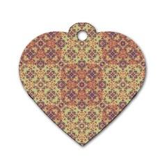 Vintage Ornate Baroque Dog Tag Heart (One Side)