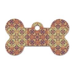 Vintage Ornate Baroque Dog Tag Bone (One Side)