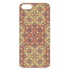 Vintage Ornate Baroque Apple iPhone 5 Seamless Case (White)