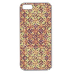 Vintage Ornate Baroque Apple Seamless iPhone 5 Case (Clear)