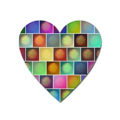 Multicolored Suns Heart Magnet
