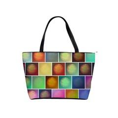 Multicolored Suns Shoulder Handbags