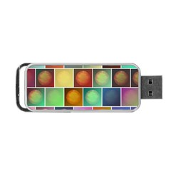 Multicolored Suns Portable USB Flash (Two Sides)