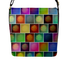 Multicolored Suns Flap Messenger Bag (L)