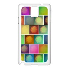 Multicolored Suns Samsung Galaxy Note 3 N9005 Case (White)