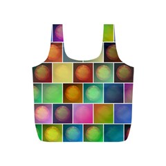 Multicolored Suns Full Print Recycle Bags (S)