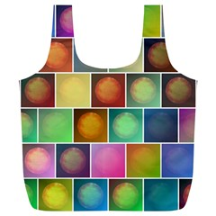 Multicolored Suns Full Print Recycle Bags (L)