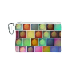 Multicolored Suns Canvas Cosmetic Bag (S)