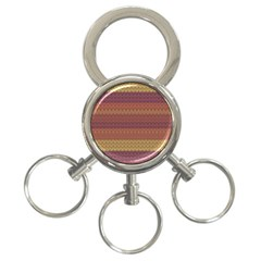 Pattern 3-Ring Key Chains
