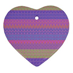 Pattern Heart Ornament (Two Sides)