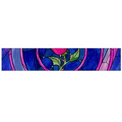 Enchanted Rose Stained Glass Flano Scarf (Large)
