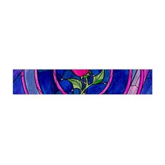 Enchanted Rose Stained Glass Flano Scarf (Mini)