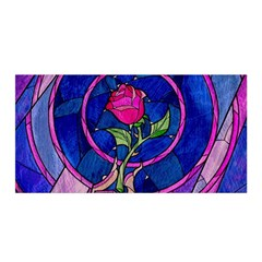 Enchanted Rose Stained Glass Satin Wrap