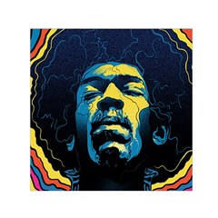 Gabz Jimi Hendrix Voodoo Child Poster Release From Dark Hall Mansion Small Satin Scarf (Square)