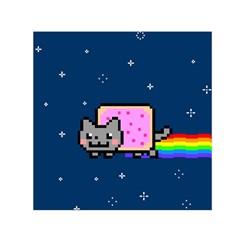 Nyan Cat Small Satin Scarf (Square)