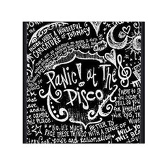 Panic ! At The Disco Lyric Quotes Small Satin Scarf (Square)