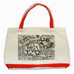 Panic! At The Disco Lyric Quotes Classic Tote Bag (Red) Front