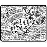 Panic! At The Disco Lyric Quotes Fleece Blanket (Medium)  60 x50 Blanket Front