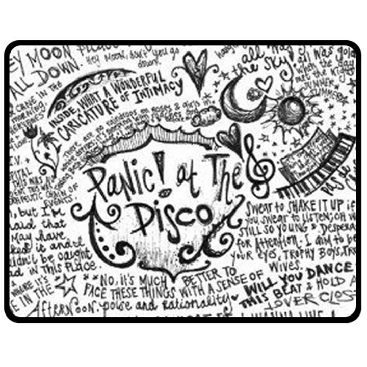 Panic! At The Disco Lyric Quotes Fleece Blanket (Medium)