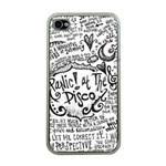 Panic! At The Disco Lyric Quotes Apple iPhone 4 Case (Clear) Front