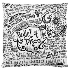 Panic! At The Disco Lyric Quotes Large Cushion Case (two Sides)