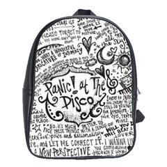 Panic! At The Disco Lyric Quotes School Bags (XL)