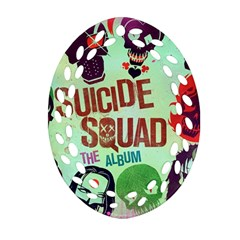 Panic! At The Disco Suicide Squad The Album Oval Filigree Ornament (Two Sides)