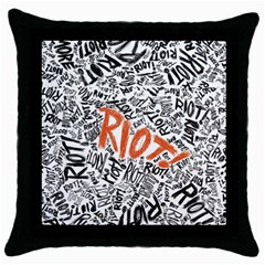 Paramore Is An American Rock Band Throw Pillow Case (black)