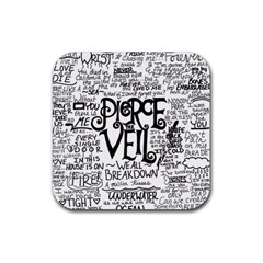 Pierce The Veil Music Band Group Fabric Art Cloth Poster Rubber Square Coaster (4 pack)