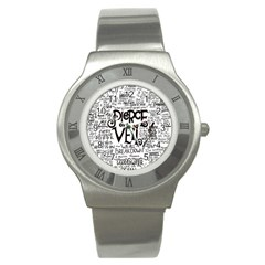 Pierce The Veil Music Band Group Fabric Art Cloth Poster Stainless Steel Watch