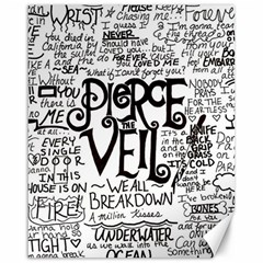 Pierce The Veil Music Band Group Fabric Art Cloth Poster Canvas 16  x 20