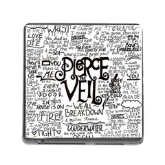 Pierce The Veil Music Band Group Fabric Art Cloth Poster Memory Card Reader (square)