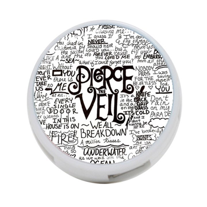 Pierce The Veil Music Band Group Fabric Art Cloth Poster 4-Port USB Hub (One Side)