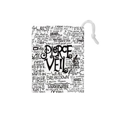 Pierce The Veil Music Band Group Fabric Art Cloth Poster Drawstring Pouches (small)