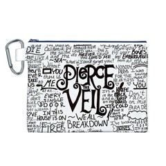 Pierce The Veil Music Band Group Fabric Art Cloth Poster Canvas Cosmetic Bag (L)