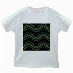 Abstraction Kids White T-Shirts