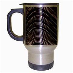 Abstraction Travel Mug (Silver Gray)